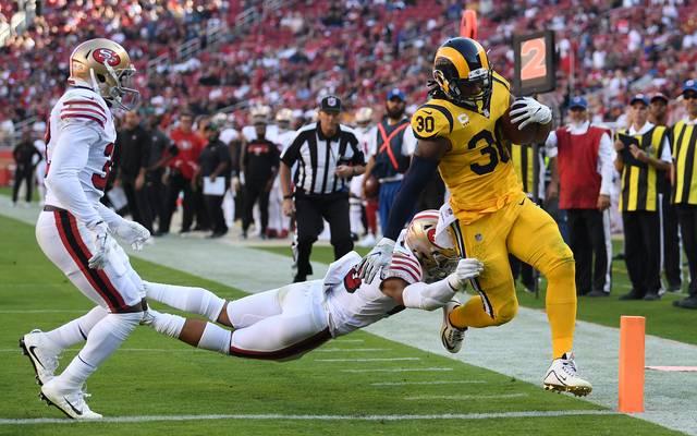Todd Gurley (r.) ist in dieser Saison ein zuverlässiger Punktelieferant bei den Rams