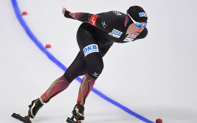 Claudia Pechstein wird auch mit dem deutschen Frauenteam in Südkorea um Medaillen fahren
