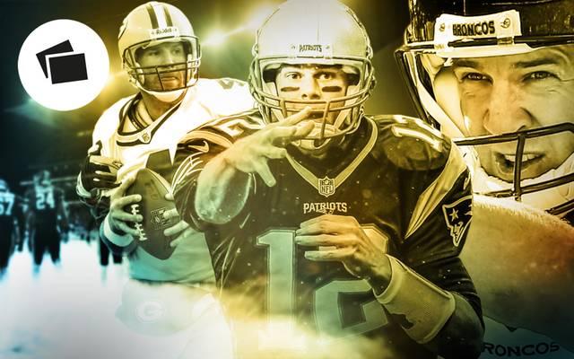 Quarterback-Legenden um Tom Brady