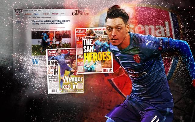 Mesut Özil überzeugte für den FC Arsenal im Auswärtsspiel bei Milan mit zwei Assists