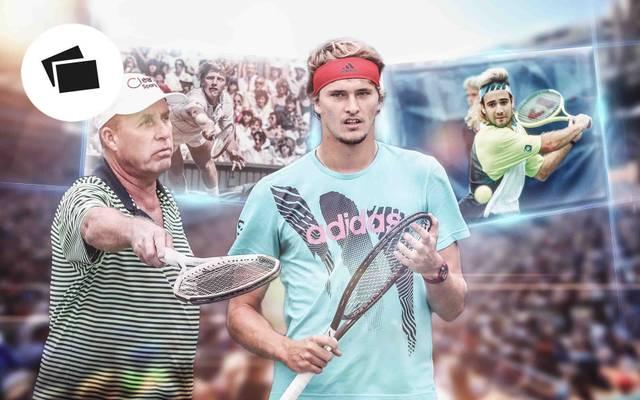Ivan Lendl (l.) verhalft Alexander Zverev zum Sieg bei den ATP Finals