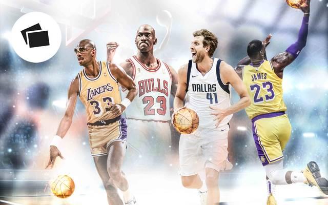 LeBron James (r.) ist weiter auf Legendenjagd