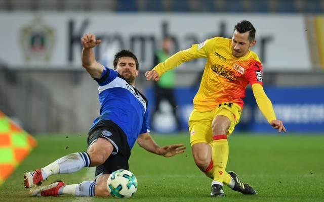 Steven Skrzybski (r.) spielte acht Jahre für Union Berlin