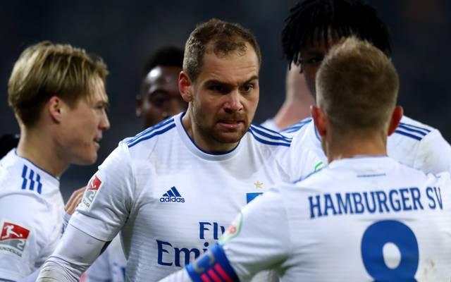 Hamburger SV v SV Sandhausen - Second Bundesliga Pierre Michel Lasogga hat in dieser Saison bereits neun Treffer für den HSV erzielt