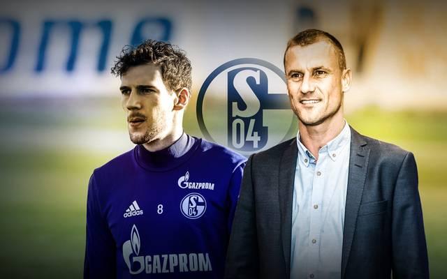 Ebbe Sand (r., mit Leon Goretzka) war auf Schalke Publikumsliebling, 2006 beendete er seine Profikarriere bei den Königsblauen