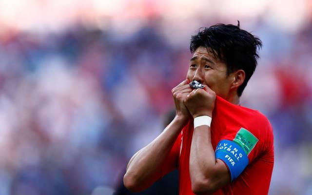 Heung Min Son kann sein Glück nach dem Sieg über Deutschland kaum fassen