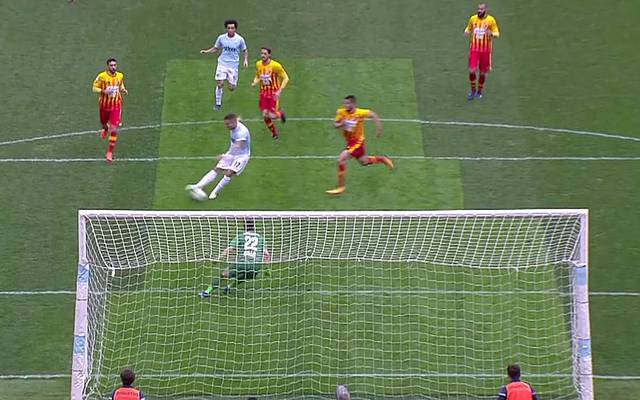 Lazio-Stürmer Ciro Immobile erzielte drei Tore im Spektakel gegen Benevento