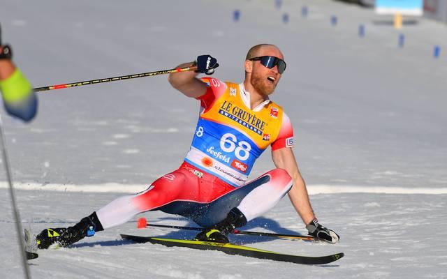 Martin Johnsrud Sundby holte sich seinen ersten Einzelsieg bei einer großen Meisterschaft