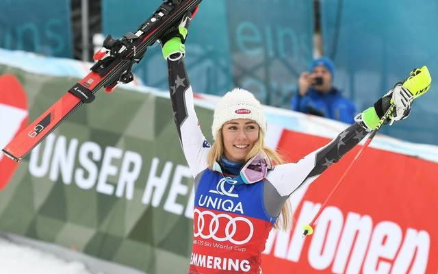 Mikaela Shiffrin gewann den Slalom in Semmering