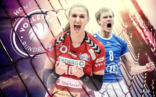 Die Volleyball-Bundesliga geht in die heiße Phase. Sowohl bei den Männern als auch bei den Frauen starten die Playoffs