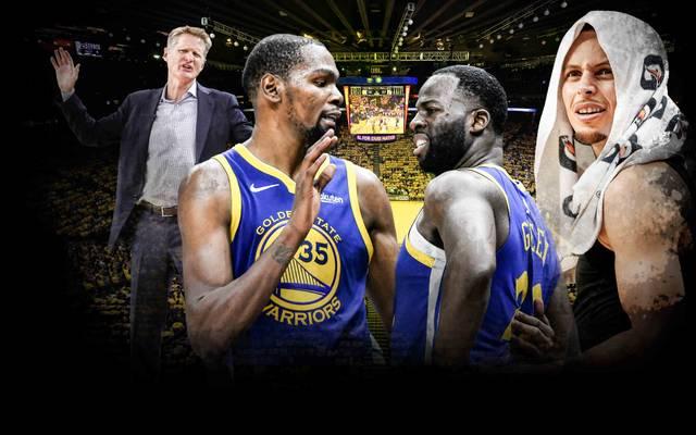 Die Golden State Warriors haben ohne Stephen Curry (r.) Probleme
