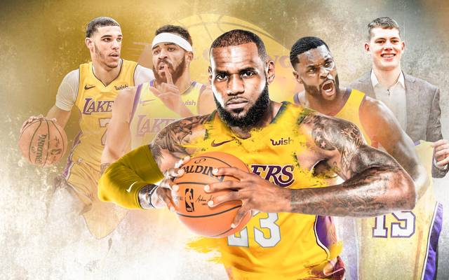 LeBron James (M.) legt mit seinen Los Angeles Lakers los