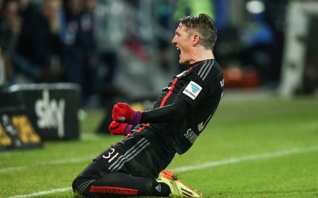 Bastian Schweinsteiger vom FC Bayern jubelt