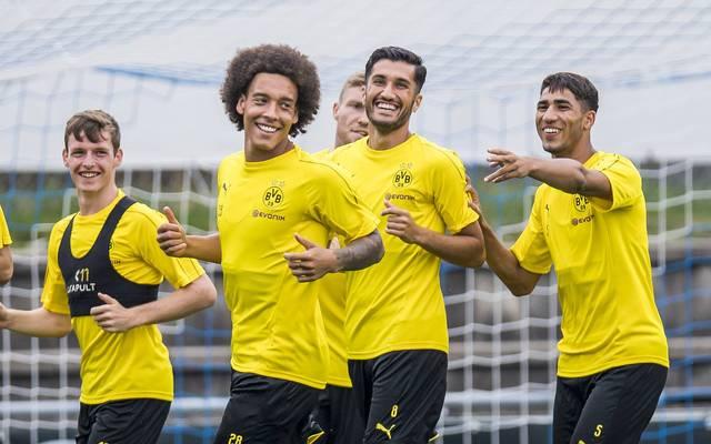 Axel Witsel trainierte bereits mit den neuen Teamkollegen