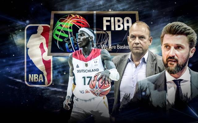 Marko Pesic und Marco Baldi (v.r.) über FIBA, NBA und BBL