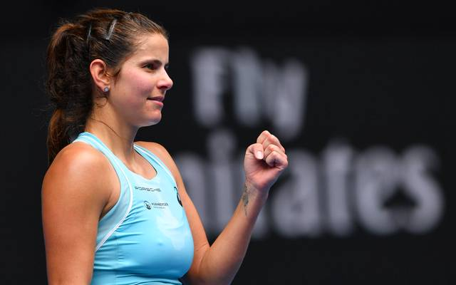 Julia Görges freut sich über den Einzug in die Top Ten der Weltrangliste