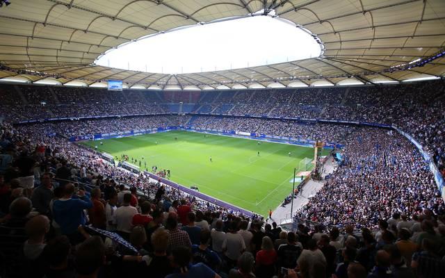 Das Volksparkstadion wird beim Spiel zwischen dem HSV und St. Pauli aller Voraussicht nach ausverkauft sein