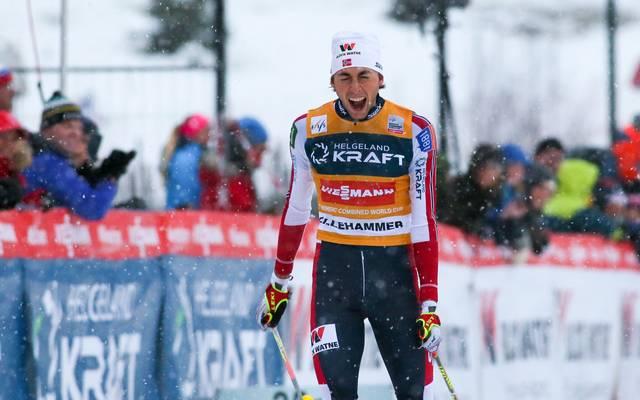Jarl Magnus Riiber hat vorzeitig den Gesamtweltcup gewonnen