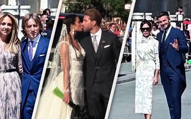 So lief die Hochzeit von Real-Star Sergio Ramos und Pilar Rubio ab