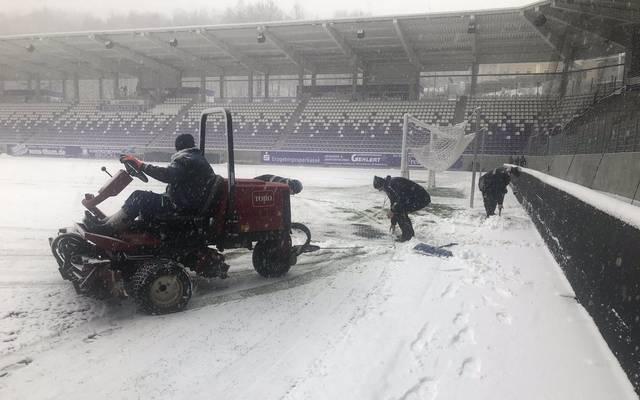 Die Partie zwischen Erzgebirge Aue und dem 1. FC Köln musste abgesagt werden
