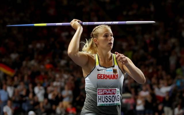 Christin Hussong gewann bei der Leichtathletik-EM Gold im Speerwerfen
