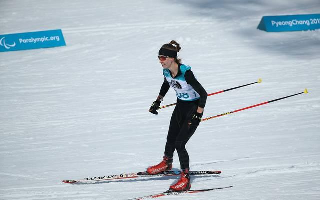 Die Russin Michalina Lysowa gewann bei den Paralympics Gold im Biathlon