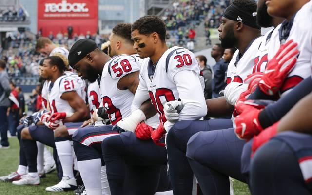 NFL-Profis dürfen auch in Zukunft während der US-Hymne auf die Knie gehen