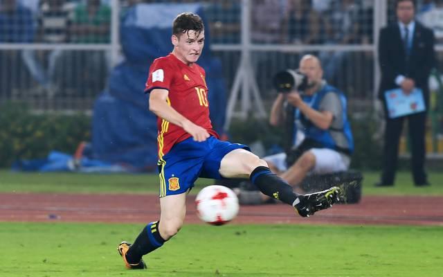 Sergio Gomez spielte mit Spanien bei der U17-WM