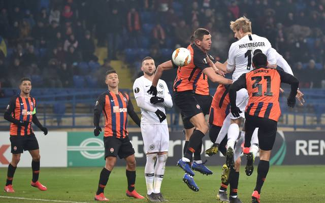 Eintracht Frankfurt muss in der Europa League gegen Schachtjor Donezk ran