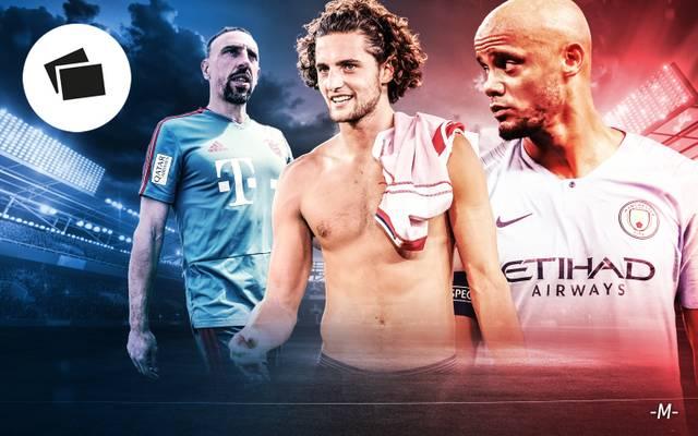 Franck Ribery, Adrien Rabiot, Vincent Kompany - nicht nur diese Stars sind im Sommer ablösefrei