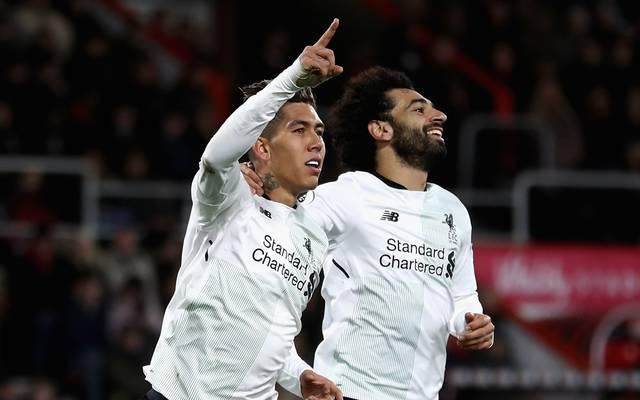 Roberto Firmino (l.) erzielte den letzten Treffer für den FC Liverpool