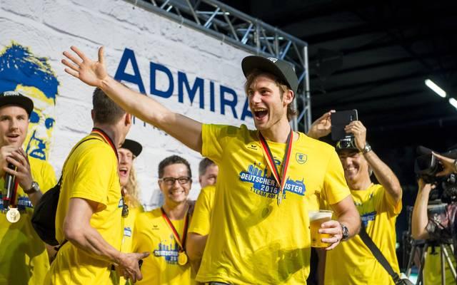 Rhein-Neckar Loewen Celebrate Winning The DKB Handball Bundesliga