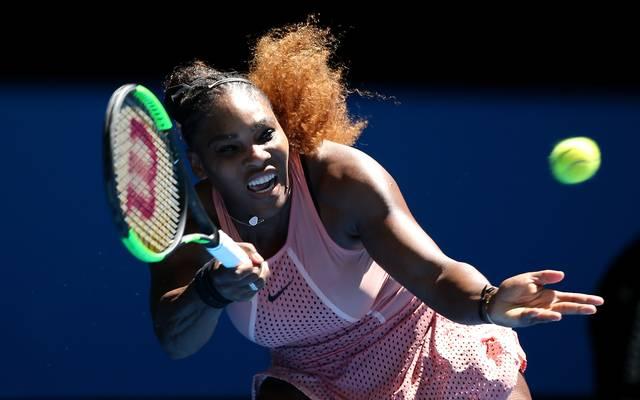 Serena Williams gewann gegen die Griechin Maria Sakkari
