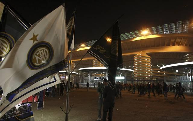 Rund um das Stadion von Inter Mailand kam es zu Krawallen