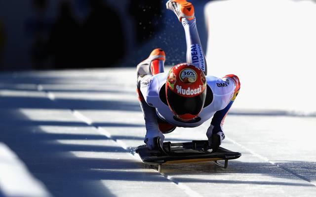Axel Jungk gewinnt bei der Skeleton-Europameisterschaft die Silbermedaille