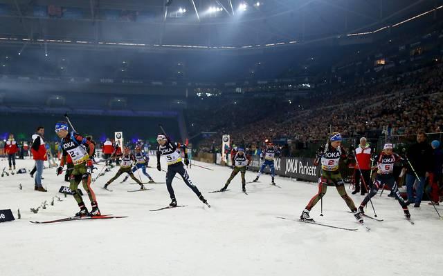 Bei der World Team Challenge auf Schalke ist die Veltins-Arena stets voll besetzt