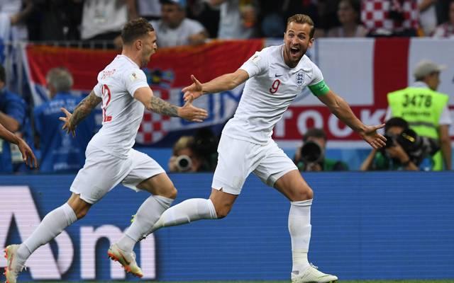 Die englische Nationalmannschaft um Harry Kane (r.) startet am Samstag gegen Spanien in die UEFA Nations League