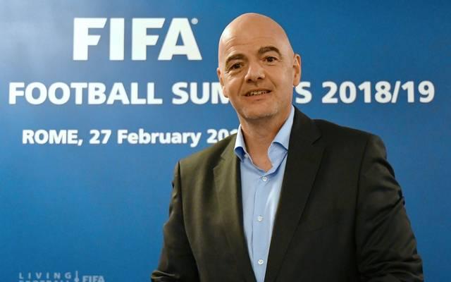 FIFA-Präsident Gianni Infantino ist von einer WM-Aufstockung 2022 überzeugt