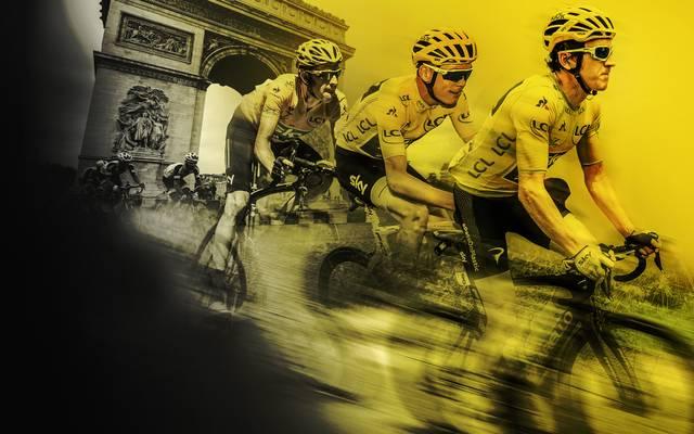 Das Gelbe Trikot gewann in den letzten Jahren fast immer ein Fahrer von Sky