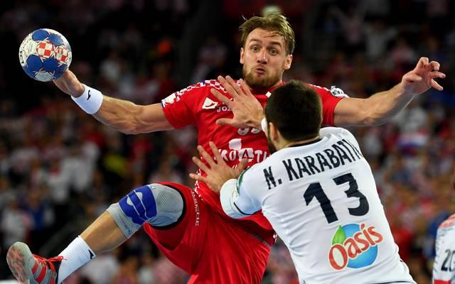 Für Kroatien (l.:Luka Cindric) platzte der Halbfinaltraum nach der Niederlage gegen Frankreich