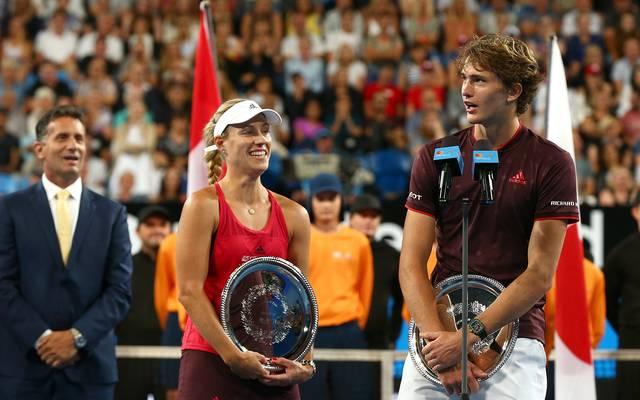 Alexander Zverev und Angelique Kerber standen zuletzt beim Hopman Cup zusammen auf dem Feld
