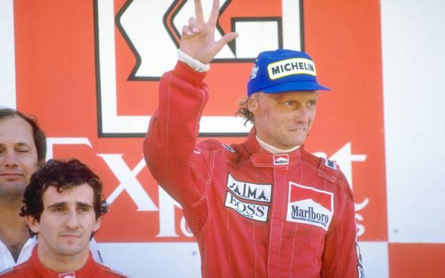 Alain Prost and Niki Lauda