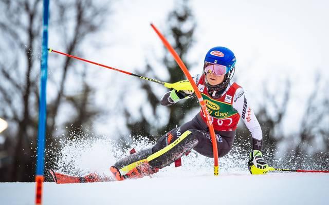 Ski Alpin: Mikaela Shiffrin siegt in Maribor - Tor-Panne von Liensberger