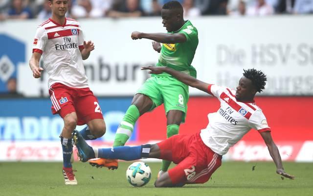 Hamburger SV: Gideon Jung fällt nach Knorpelschaden lange aus, Gideon Jung (rechts) wird dem Hamburger SV ein halbes Jahr fehlen
