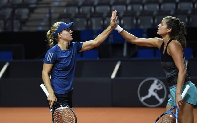 Mit Angelique Kerber und Julia Görges soll der Klassenerhalt im Fed Cup geschafft werden