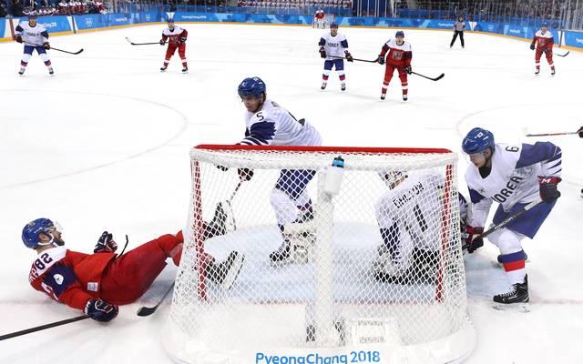 Südkorea (in weiß) unterlag den Tschechen nur knapp.