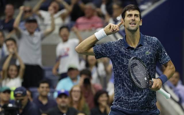 Novak Djokovic steht bei den US Open im Achtelfinale