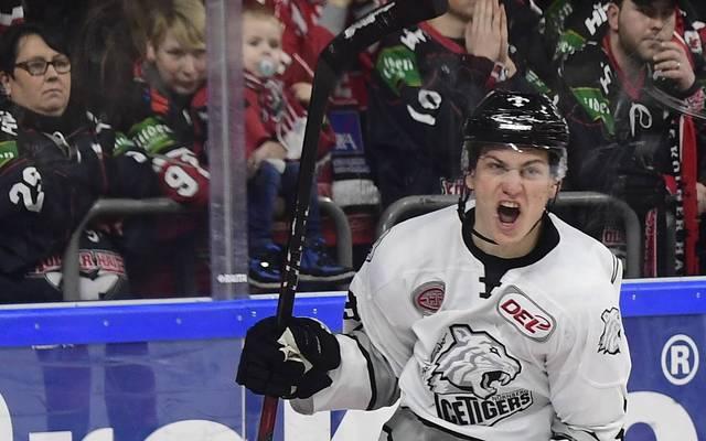 Leonhard Pföderl erzielte zwei Tore für die Thomas Sabo Ice Tigers