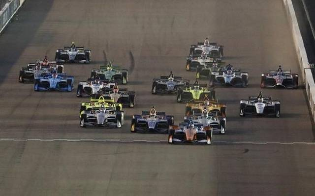 Der Start des Indy 500 2018