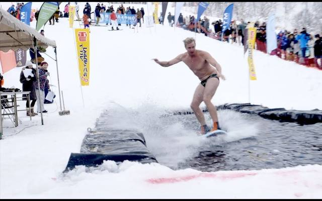SNOW SURFING IN SPEEDOS | JAMIE O'BRIEN